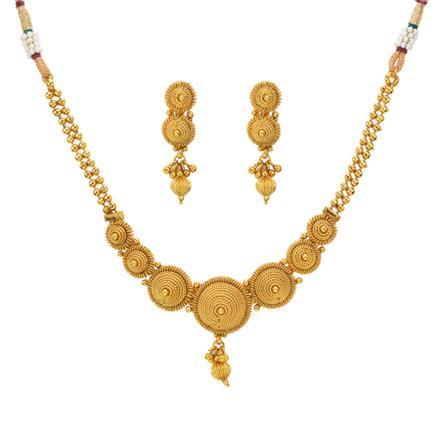 12991 Antique Plain Gold Necklace
