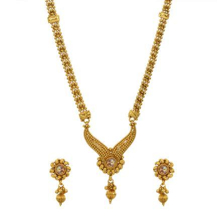 12993 Antique Plain Gold Mangalsutra
