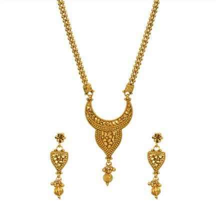 12994 Antique Plain Gold Mangalsutra