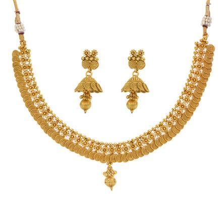 12997 Antique Plain Gold Necklace