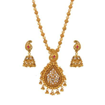 12998 Antique Mala Pendant Set with gold plating