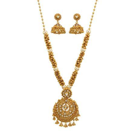 12999 Antique Mala Pendant Set with gold plating