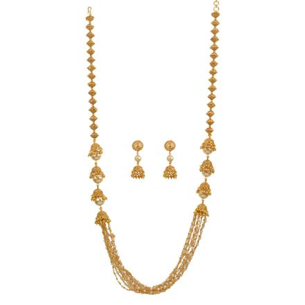 13001 Antique Mala Necklace with gold plating