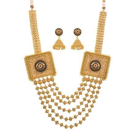 13002 Antique Mala Necklace with gold plating