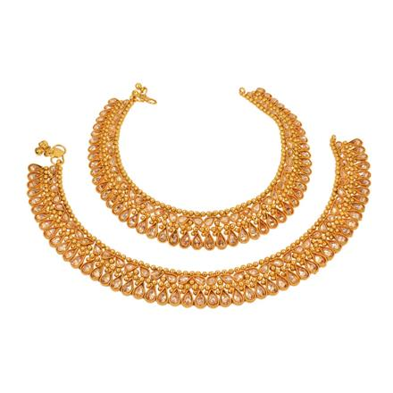13003 Antique Classic Payal with gold plating