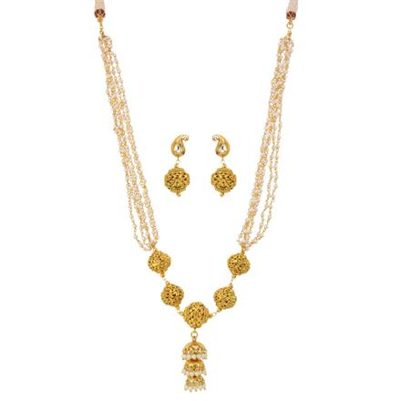 13008 Antique Mala Necklace with gold plating