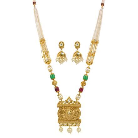 13009 Antique Mala Pendant Set with gold plating