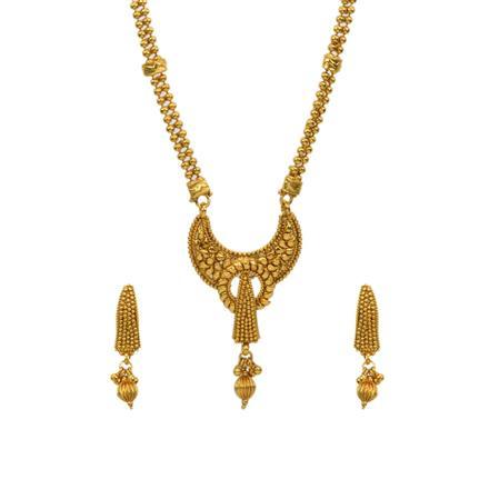 13010 Antique Plain Gold Mangalsutra