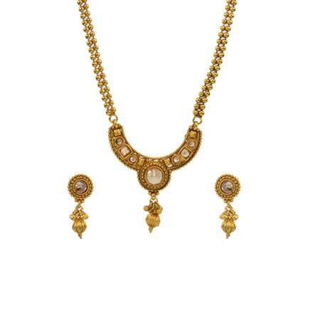13011 Antique Plain Gold Mangalsutra