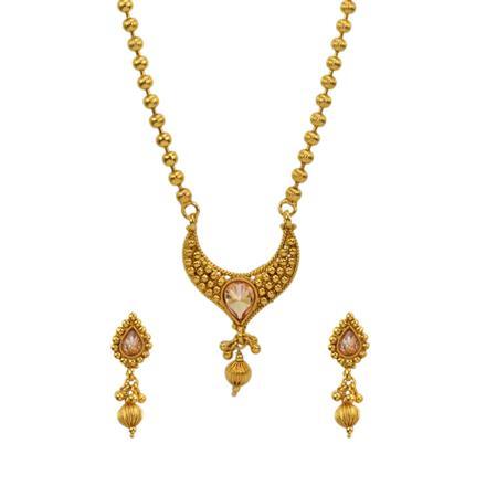 13013 Antique Plain Gold Mangalsutra