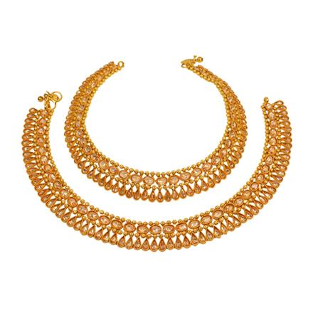 13014 Antique Classic Payal with gold plating