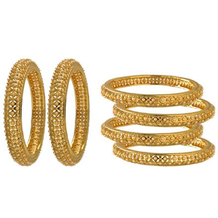 13018 Antique Classic Bangles with gold plating
