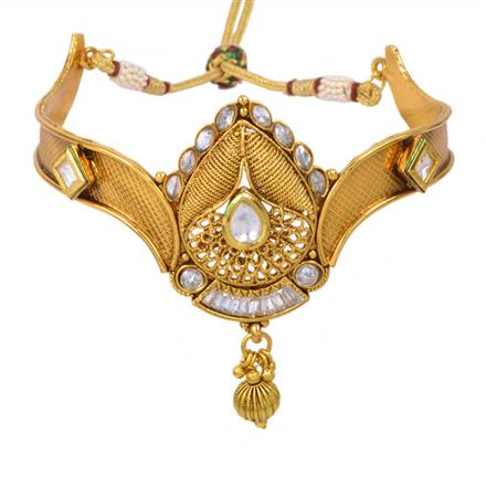 13028 Antique Classic Baju Band with gold plating