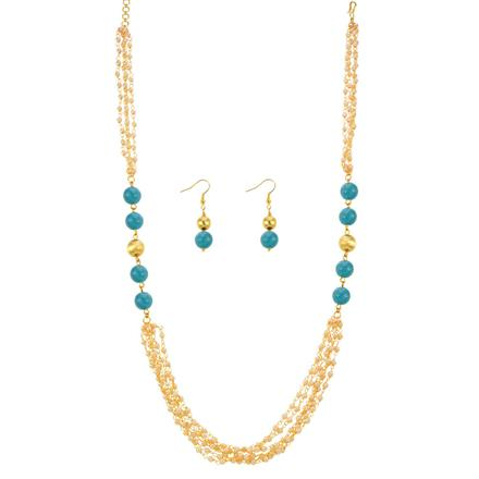 13069 Antique Mala Necklace with gold plating