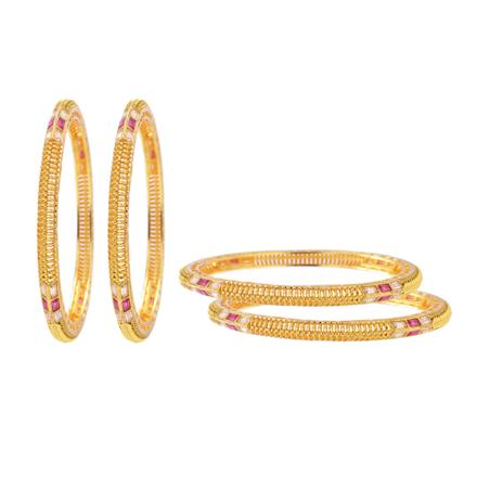 13074 Antique Classic Bangles with gold plating
