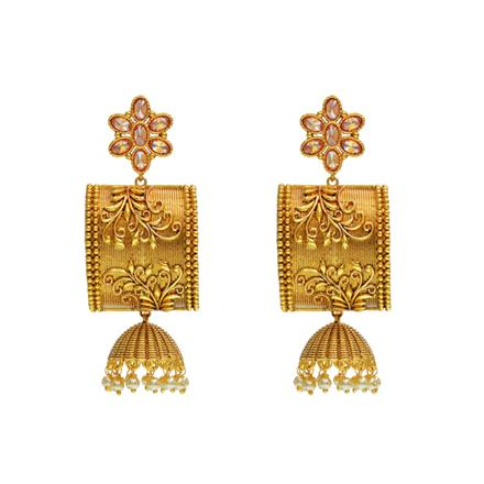 13075 Antique Classic Earring with gold plating