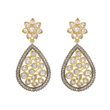 13078 Antique Classic Earring with gold plating