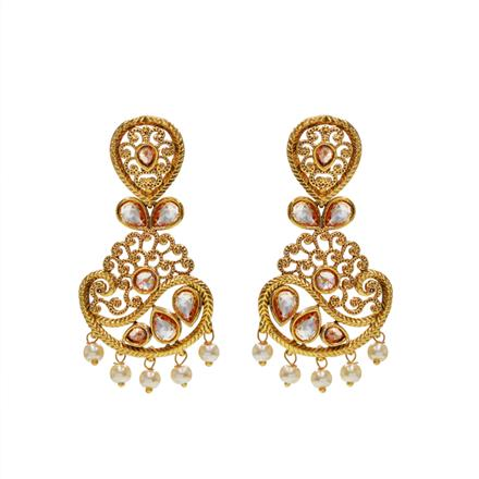 13081 Antique Delicate Earring with gold plating