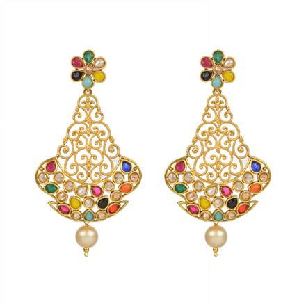 13083 Antique Classic Earring with gold plating