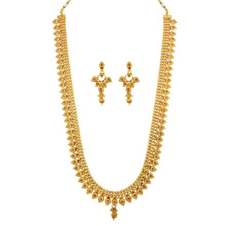 13087 Antique Long Necklace with gold plating