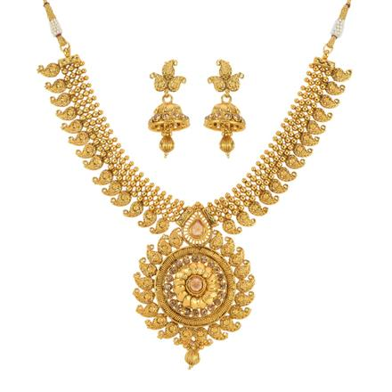 13090 Antique Classic Necklace with gold plating