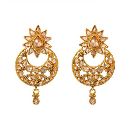 13091 Antique Chand Earring with gold plating