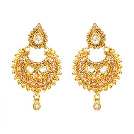 13094 Antique Chand Earring with gold plating