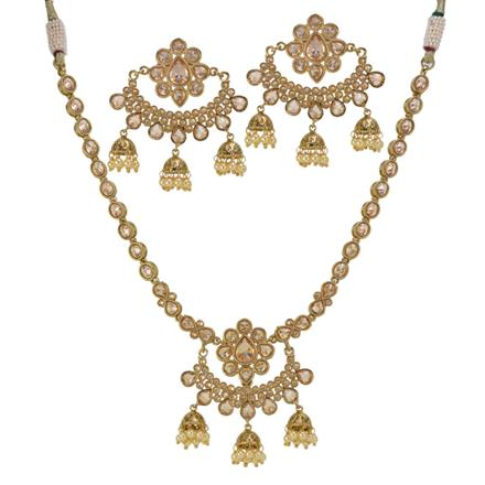 13100 Antique Classic Necklace with mehndi plating