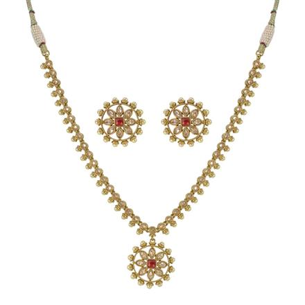 13102 Antique Classic Necklace with mehndi plating