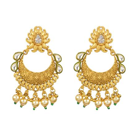 13112 Antique Chand Earring with gold plating