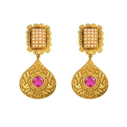 13113 Antique Classic Earring with gold plating