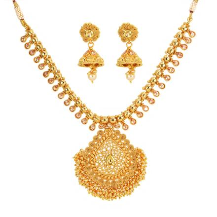 13115 Antique Classic Necklace with gold plating