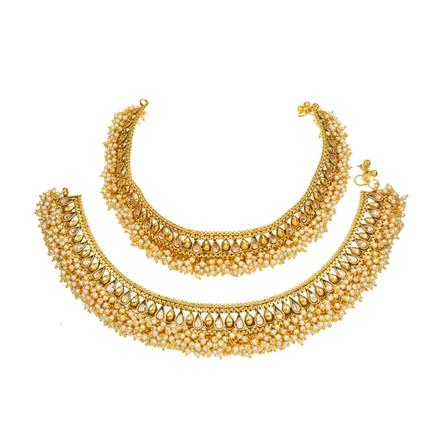 13118 Antique Classic Payal with gold plating