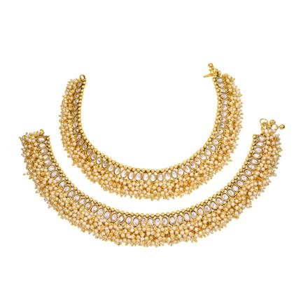 13119 Antique Classic Payal with gold plating