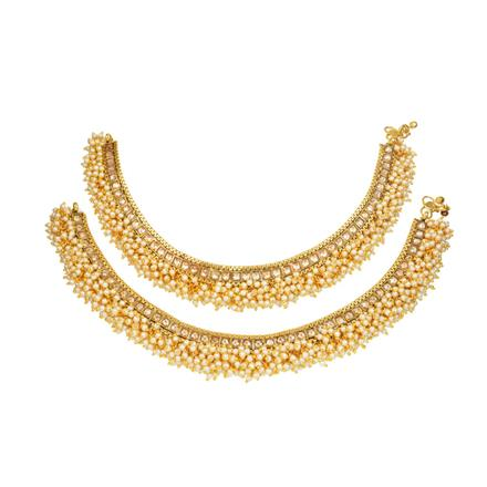 13120 Antique Classic Payal with gold plating