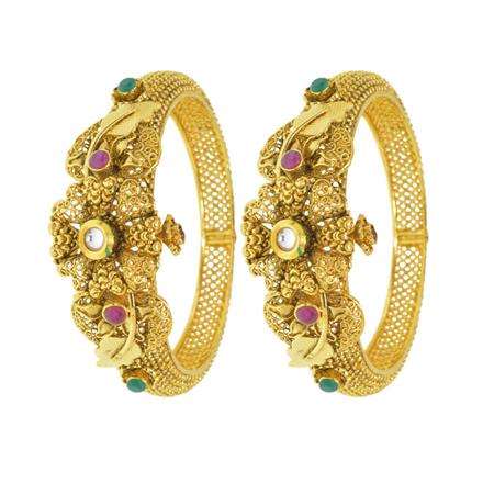 13121 Antique Openable Bangles with gold plating
