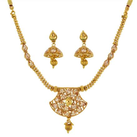 13127 Antique Classic Necklace with gold plating