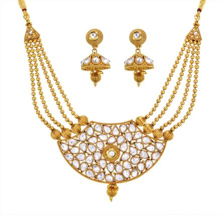 13128 Antique Classic Necklace with gold plating