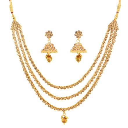 13129 Antique Classic Necklace with gold plating