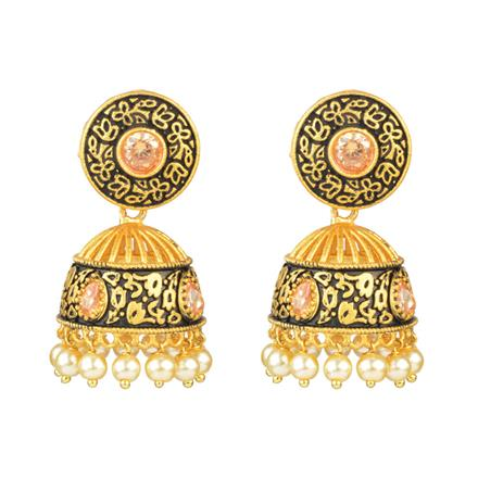 13137 Antique Jhumki with gold plating