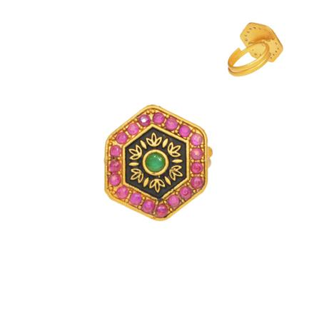 13139 Antique Classic Ring with gold plating