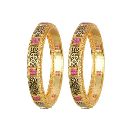 13142 Antique Classic Bangles with gold plating