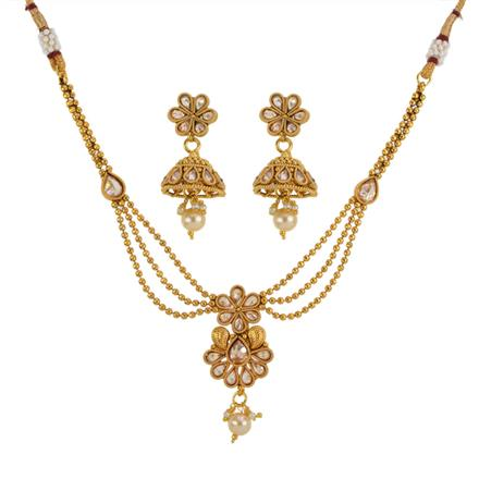 13144 Antique Delicate Necklace with gold plating