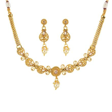 13145 Antique Delicate Necklace with gold plating