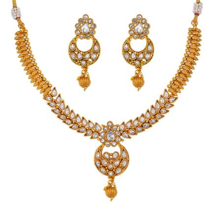 13146 Antique Classic Necklace with gold plating
