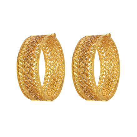 13152 Antique Openable Bangles with gold plating