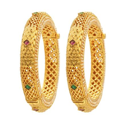 13163 Antique Openable Bangles with gold plating