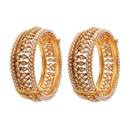 13166 Antique Openable Bangles with gold plating