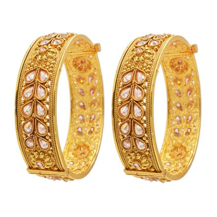13168 Antique Openable Bangles with gold plating