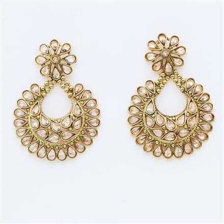 13170 Antique Chand Earring with gold plating
